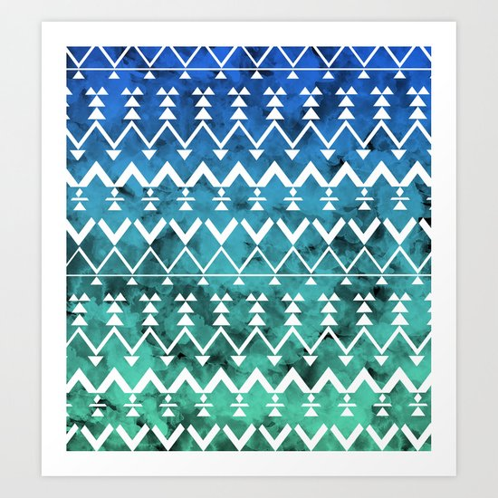 Triangle Tribal Art Print