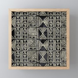 Tribal mud cloth pattern Framed Mini Art Print