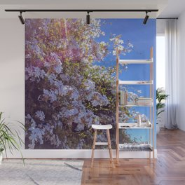Blue Blossoms Wall Mural