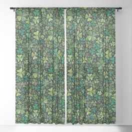 Luck in a Field of Irish Clover Sheer Curtain