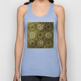 Glam Art Deco Pattern: Intoxicated By Ruby Lips Unisex Tank Top