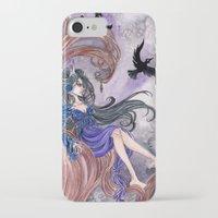 tina fey iPhone & iPod Cases featuring Morgan la Fey by Cat Craig