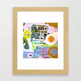 a mask of the female gender Framed Art Print