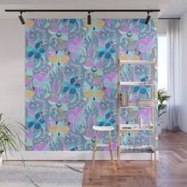 Pastel Tropical Floral Wall Mural