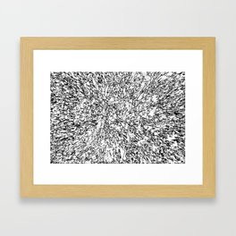 Scattered Black and White Framed Art Print
