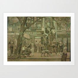 St. Marks Street Scene  Art Print