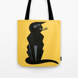 Art Deco Vintage Black Cat Tote Bag