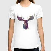 gray pattern T-shirts featuring Moose by Amy Hamilton