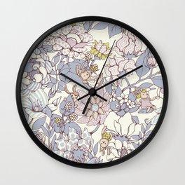 Garden party - jasmine tea version Wall Clock