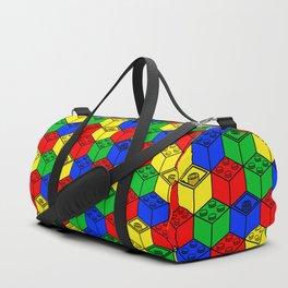 trippy building blocks Duffle Bag