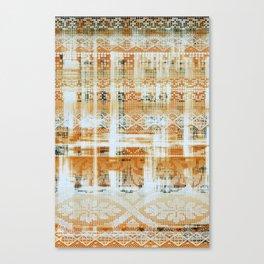 needlepoint sampler in sunny rays Canvas Print