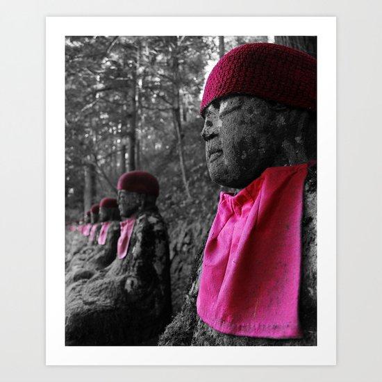 Red Statue 2 Art Print