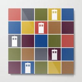 TARDIS Tiles Metal Print