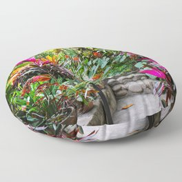 Dreamy Mexican Jungle Garden Floor Pillow