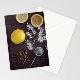 Lemon and tea Stationery Cards
