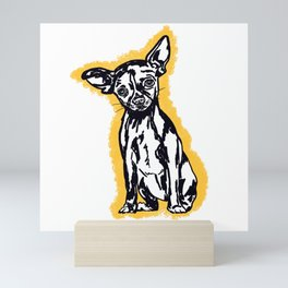Cute Deer Faced Chihuahua  Mini Art Print