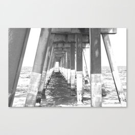 Black and White Pier (Wrightsville Beach, NC) Canvas Print