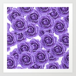 ROSES ROSES PURPLE AND LAVENDER ROSES DELIGHT Art Print