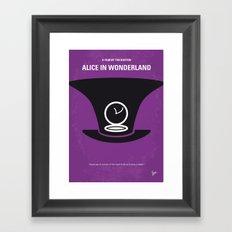No140 My Alice in Wonderland minimal movie poster Framed Art Print