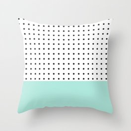 Stars and Mint Throw Pillow
