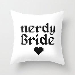 nerdy bride wedding geek computer gift Throw Pillow