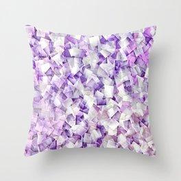 Geometric Stacks Mini Purple Throw Pillow