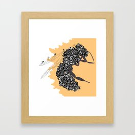 Seeds and the wasp Framed Art Print
