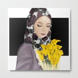Beauty Muslimah Metal Print
