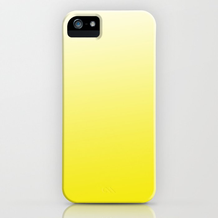 Simply sun yellow color gradient - Mix and Match with Simplicity of Life iPhone Case