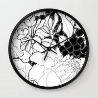 korean Wall Clocks featuring Korean Spring by Madame Mim