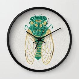 Cicada – Green & Gold Wall Clock
