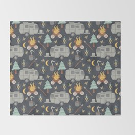 Airstream Camping Throw Blanket