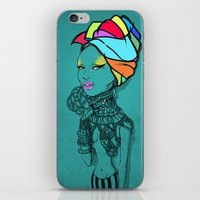 erykah badu iPhone & iPod Skins featuring ERYKAH by Anwar Rafiee