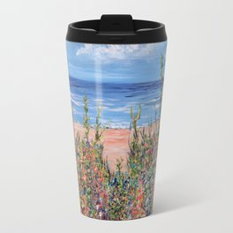 Summer Beach, Impressionism Seascape Travel Mug
