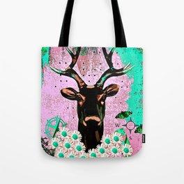 Deer Abstract Tote Bag