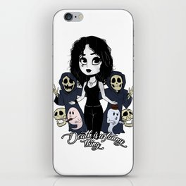 Death is a funny thing iPhone Skin