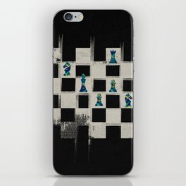 Chessboard and Marble Chess Pieces composition iPhone Skin