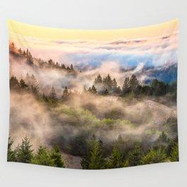 Coastal Fog Over Mount Tamalpais Wall Tapestry