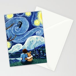 Watching The Tardis Flying Stationery Cards