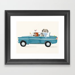 road trip quatre Framed Art Print