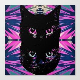 Black Cat Rising Canvas Print