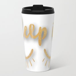 Gold sleep in Travel Mug