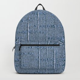 Heritage - Hand Woven Cloth Pastel Blue Backpack