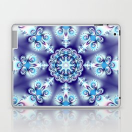 Elegant swirly kaleidoscope design in soft blue, pink, purple and cream Laptop & iPad Skin