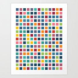 City Blocks - Subtle Rainbow #453 Art Print