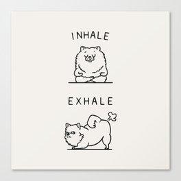 Inhale Exhale Pomeranian Canvas Print