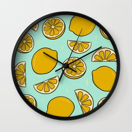 Lemon Print Wall Clock