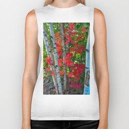 Birch Maple by Teresa Thompson Biker Tank
