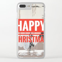 Snowfall - Happy Christmas Clear iPhone Case