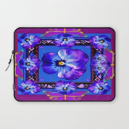 Purple Pansy & Butterflies Melody Abstract Laptop Sleeve